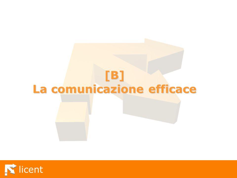 [B] La comunicazione efficace
